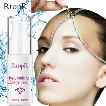 RtopR Hyaluronic Acid Collagen Serum Face Anti-wrinkle Moisturizing Shrink Pores Facial Essence Firming Whitening Skin Care laikou hyaluronic acid face serum moisturizing shrink pores whitening brightening tighten facial essence liquidskin care 15ml