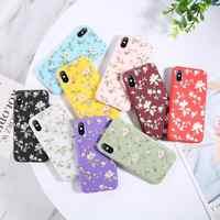 Moskado Daisy Fleur Téléphone étui pour iphone 11Pro Max X XR XS MAX Floral Doux En Silicone TPU étui pour iphone 6S 7 8 Plus Couverture Arrière
