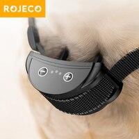 ROJECO Intelligente Ausbildung Kragen Hund Anti Rinde Kragen Wiederaufladbare Antibell Kragen Für Hunde Elektrische Anti-Bellen Geräte