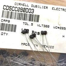 20 шт. Мексика МЧР серебро, слюда, 300V9PF P3MM Слюдяной конденсатор, алюминиевая крышка, 300V 9P 9pF/300V CD5CC090D03