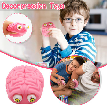 2018 newest creative personality toys lollipop holder decompression robot decompression candy dustproof gift toys for children Decompression Artifact Vent Decompression Toys Novelty Squeezing Eyes Creative Tricky Funny Office Birthday Gift игрушки 6*