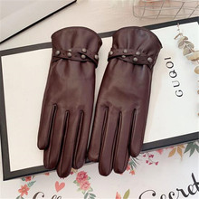 Genuine Leather Women Gloves Female Elegant Touch Screen She