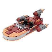 Juego de bloques de construcción modelo Lukes's speedder MOC 76271, juguete de construcción con ladrillos para armar nave espacial, ideal para regalo