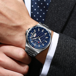 Image 4 - CURREN New Men Business Watch Full Steel Quartz Top Brand Luxury Sports Waterproof Casual Male Wristwatch Relogio Masculino
