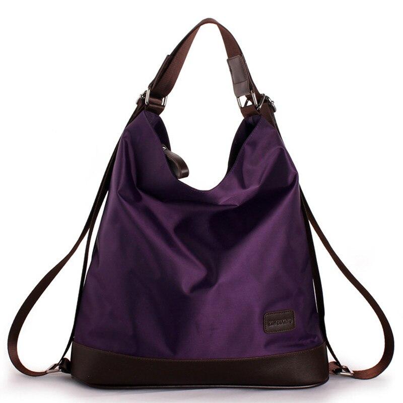 2019 nouvelle mode femmes en Nylon sac à main multifonction étanche sac à bandoulière célèbre Designer violet sacs grand Shopping fourre-tout A2-08