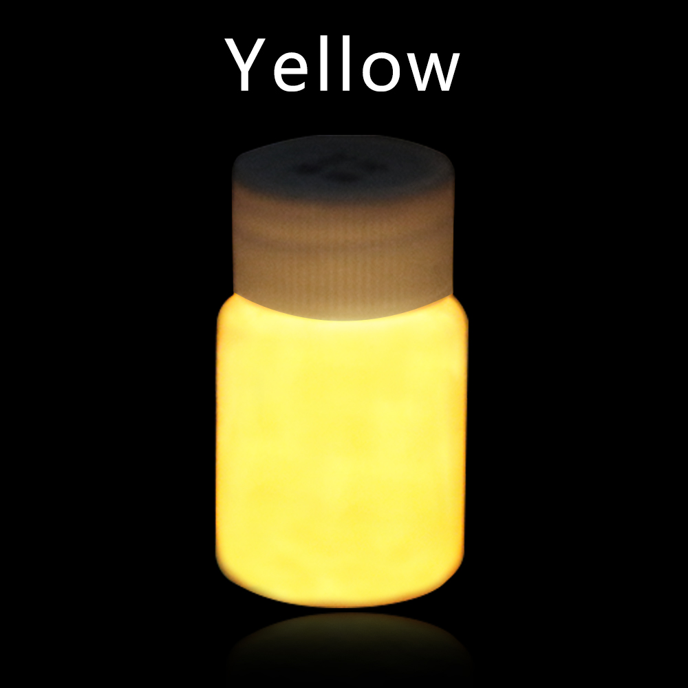 20g Yellow Glow In The Dark Paint Fluorescent Paint For Halloween Party Nails Decorations Arts Phosphor Pigment Luminous Paints