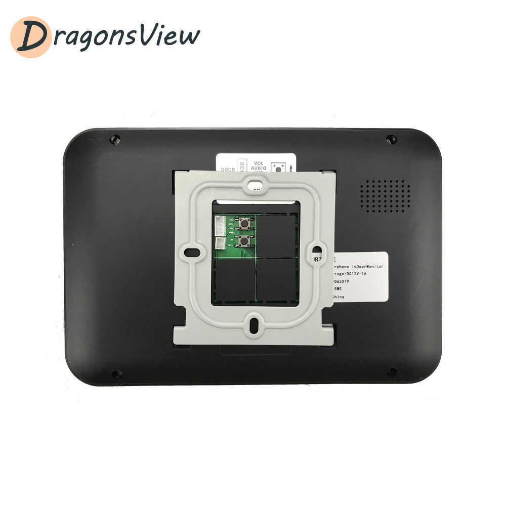 Dragonsview 7 بوصة فيديو إنترفون 1000TVL السلكية فيديو باب الهاتف الجرس كاميرا للمنزل الأمن دعم قفل كهربائي الاتصال