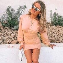 New Autumn Fashion Long Sleeve women Slim bodycon dress Sexy Patchwork Party mini