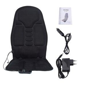 Image 5 - Almofada massageadora automotiva elétrica, massageador inteligente, com vibração, portátil, para escritório e home office, para pescoço, lombar, cintura, alívio da dor, para assento
