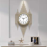 Luxury Large Wall Clock Mechanism Kitchen Modern Design Wall Clock Living Room Reloj Pared Cocina Home Decoration OO50WC