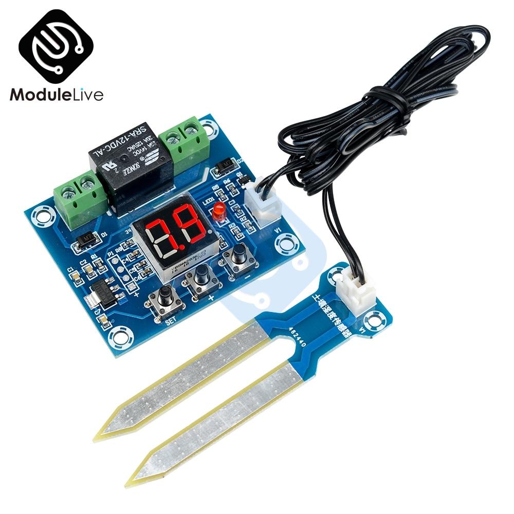 XH M214 регулятор влажности Модуль датчика почвы плата 20 99% RH точный автоматический контроль ирригационной системы красный цифровой дисплей| |   | АлиЭкспресс