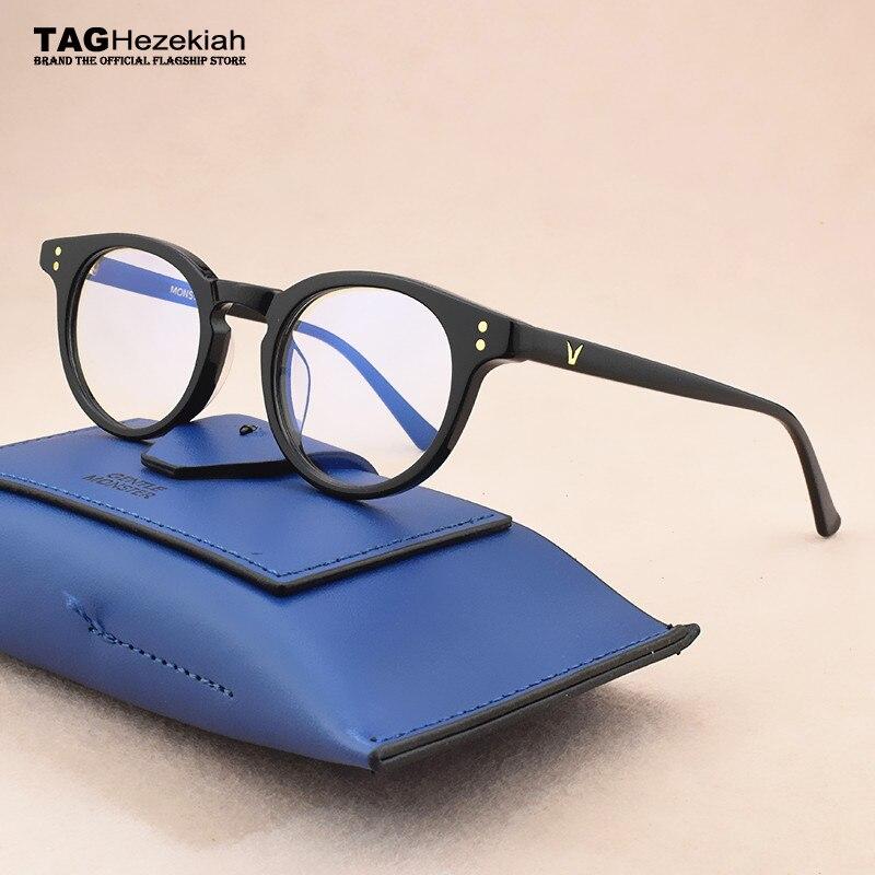 Brand Glasses Frame Women 2020 Round Glasses Frame Men Myopia Prescription Spectacle Frames Women's Eyeglasses Frame Men's Black