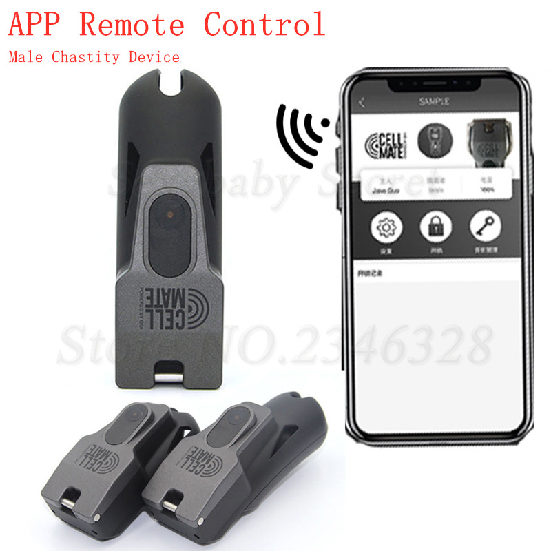 2020 New QIUI APP Remote Control Male Chastity Device,Cock Cage,Metal Penis Ring,Penis Sleeve,Adult Games BDSM Sex Toys For Men