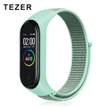 TEZER Colorful Strap Bracelet Accessories for Xiaomi Miband 3 Replacement Nylon Wriststrap Smart Wrist for Xiaomi Mi Band 4