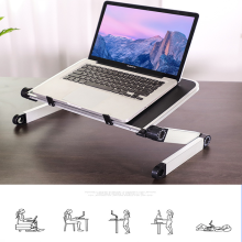 Laptop Stand Adjustable Computer Table Ergonomic Design for Improved Sitting Posture strong Aluminum Legs