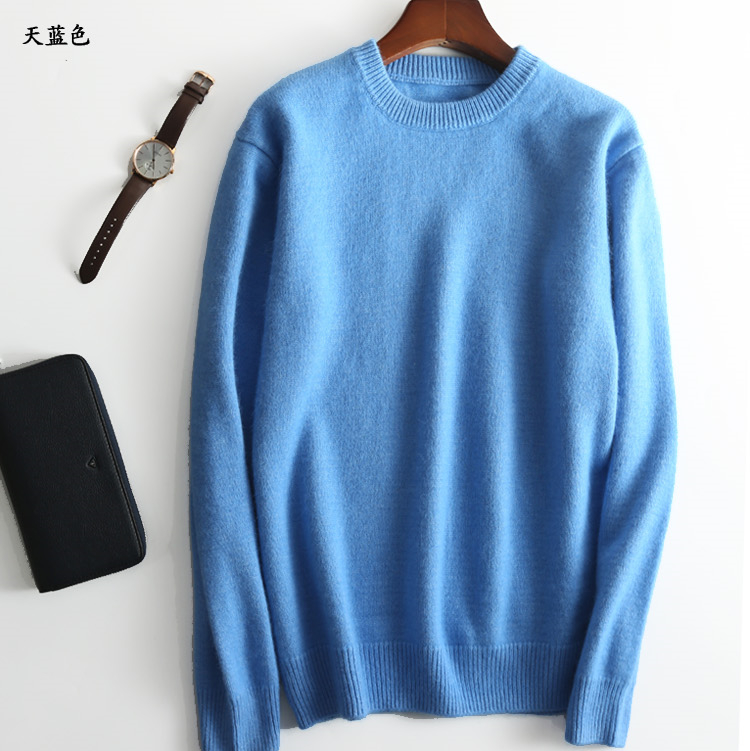 Hot Selling Cashmere Cotton Blended Thick Pullover Men Sweater autumn winter jersey Jumper hombre pull Knitted sweater 3