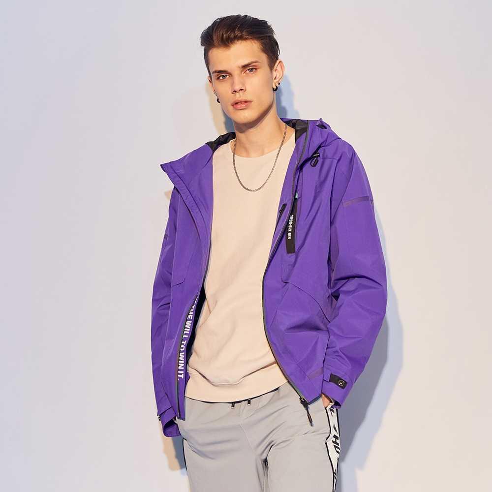 Metersbonwe bahar yeni erkek günlük ceketler erkek moda kapşonlu ceket erkekler beyzbol ceketleri erkek Streetwear Tops