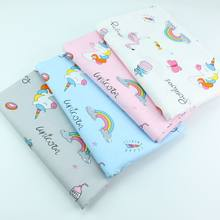 Cartoon Unicorn Printed Cotton Fabric Cotton Patchwork Cloth DIY Sewing Quilting Fat Quarters Material For Baby&Child