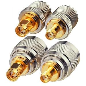 4 шт./компл. UHF штекер Fmale PL259 SO239 в гнездо SMA штекер RF коаксиальный комплект адаптеров