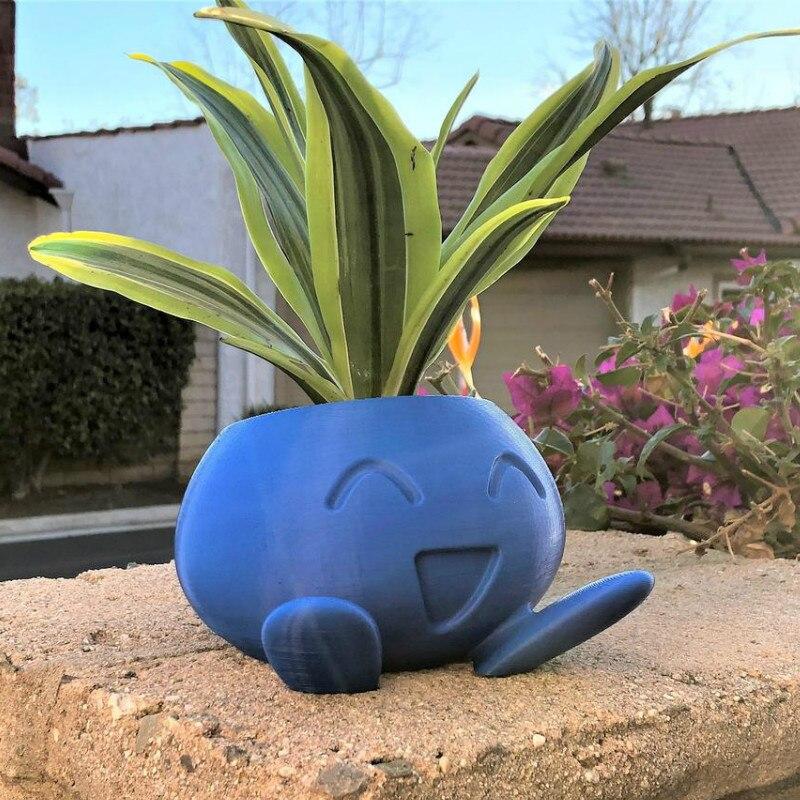 Покемон pet горшочек эльфа суккуленты Крытый цветочный горшок для оформления дома прогулки трава цветочный горшок милый мультфильм горшках