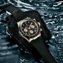 Часы наручные PAGANI Мужские кварцевые, спортивные деловые/Водонепроницаемые из нержавеющей стали, 2020