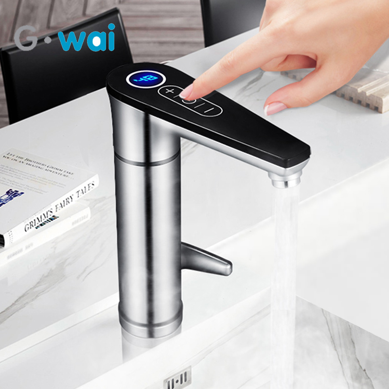 220V Instant Water Heater Without Water Tank Hot Water Boiler Water And Electricity Faucet Adjustable Temperature For Kitchen