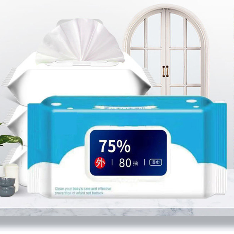 80 Pcs/Pack Wet Wipes Portable Wet Napkins Hand Body Cleaning Soft For Travel Office Home A66