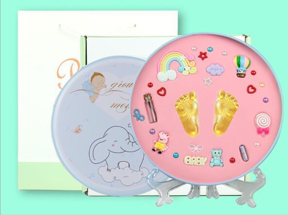 15PCS/Set Baby 0-3M Handprint Souvenirs Safe Non-Toxic Infant Soft Easy Make Clay Hand&FootPrint Set Newborn Keepsake Inkpad Ink