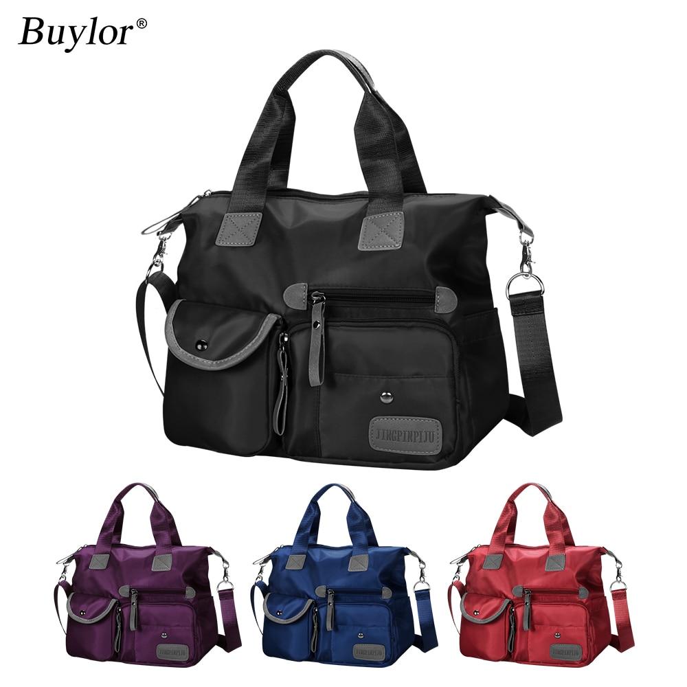 Buylor Handbags Nylon Shoulder Bag Women Waterproof Crossbody Bag Large Capacity  Multifunctional Tote Travel Messenger