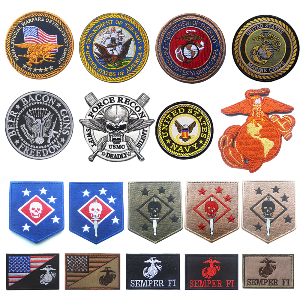 Emblema bordado usmc eagle globe, emblema emblema do corpo marinho dos eua, marinheiro, equipe, patches morais