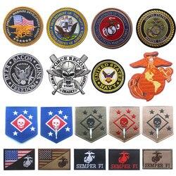Emblema do emblema do emblema do remendo do corpo dos fuzileiros navais dos eua da marinha dos eua