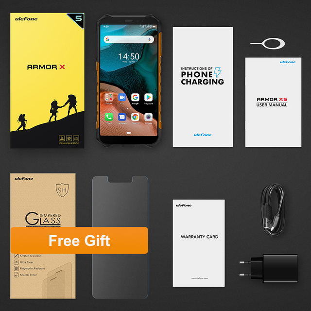 Ulefone Armor X5  Android 10 Rugged Waterproof  Smartphone IP68 MT6762 Cell Phone 3GB 32GB Octa core NFC  4G LTE Mobile Phone 6