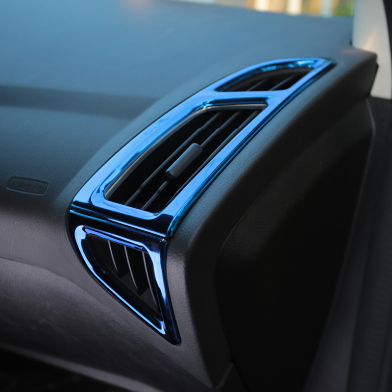 ALittleChange Interior Front Air Vent Trim Air Conditioning Decoration Sticker for Ford Focus 3 4 MK3 MK4 2012 - 2016 2017 2018