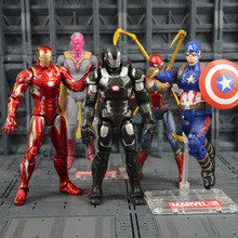 Marvel's The Avengers Action Figure Toy Iron Man Spiderman Captain America Thor War Machine Falcon Model Toys