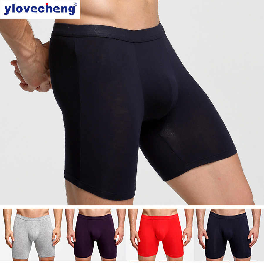 Men's Underwear Extra Long Underwear Sports Pants Large Size Running Fitness Youth Boxer 2019 Hot Sale