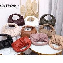 2020 New Female Bag Soft Leather Retro Underarm Bag Dumpling
