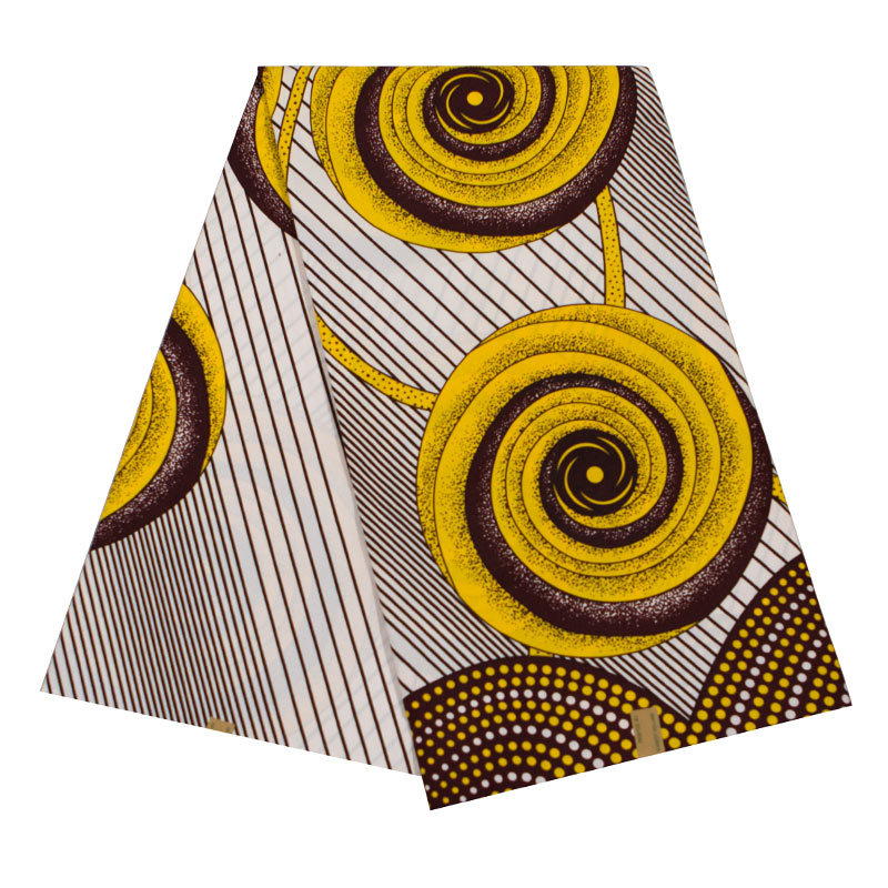 New Wax Fabric Yellow Print African Ankara Veritable Guarantee Real Dutch Wax Real 6Yards