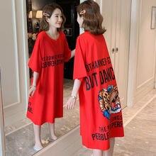 #2309 размера плюс Красная футболка для детей Детские платья