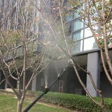Туманная система охлаждения латунная насадка прочные растения наружные DIY теплицы орошения воды спрей патио дома низкое напряжение