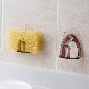 Image 4 - Küche Saugnapf Waschbecken Abfluss Rack Schwamm Lagerung Halter Küche Waschbecken Seife Rack Abtropffläche Rack Bad Zubehör Veranstalter