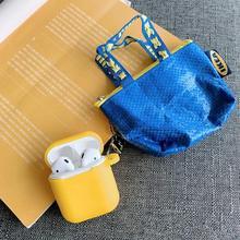 Роскошный модный мини кошелек INS для монет, мягкий силиконовый чехол для Apple AirPods, милый силиконовый чехол для наушников Air pods 1 2