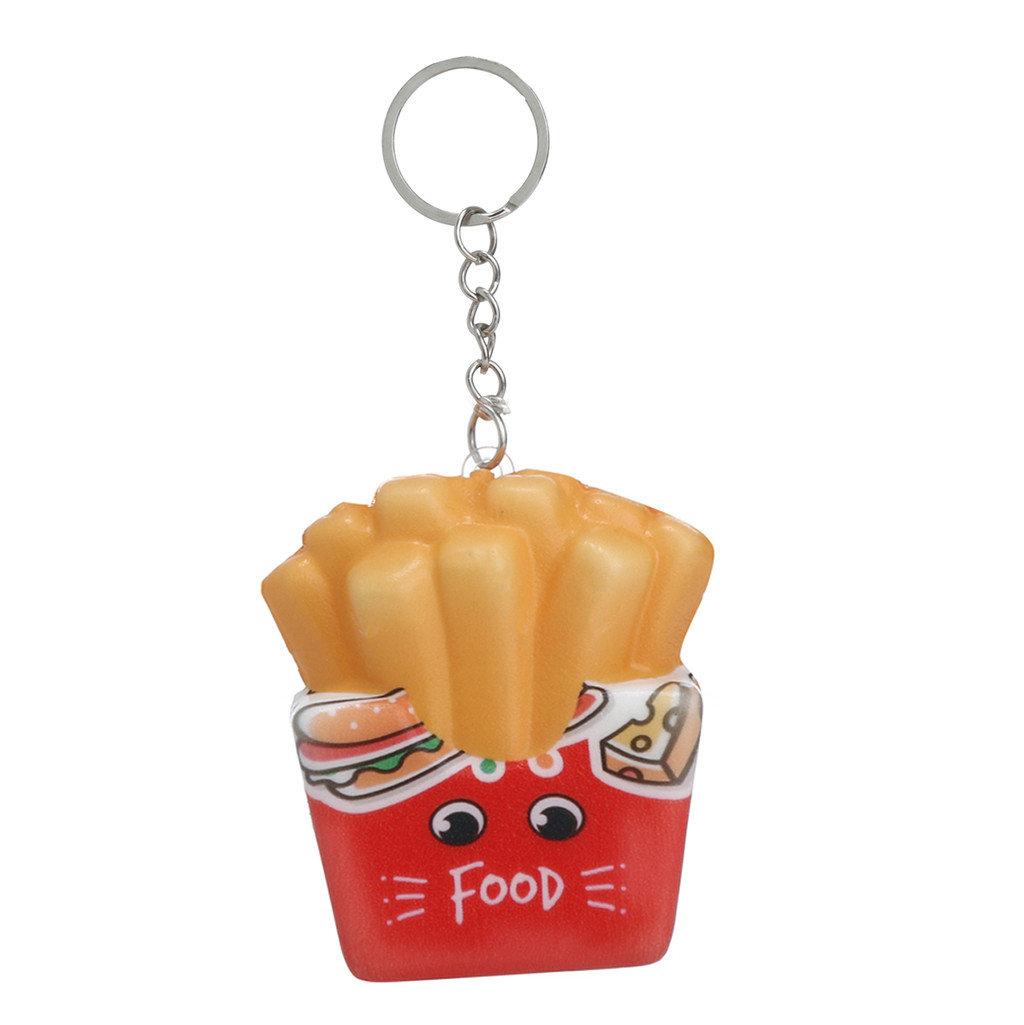 Hot Sale Funny Toy Squeeze Squishies Kawaii Cartoon Chips Slow Rising Cream Scented Keychain Stress Relief Decompression Toys