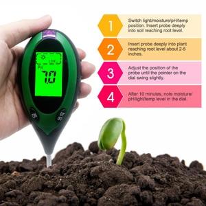 Image 3 - Termômetro digital 4 em 1 para uso múltiplo, medidor de ph do solo, umidade, luz solar, monitor de temperatura para jardinagem, plantas