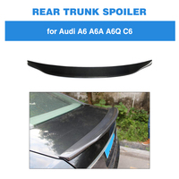 Rear Trunk Spoiler for Audi A6 C6 2005 2011 Carbon Fiber Rear Trunk Boot Tail Lip Wing Lid