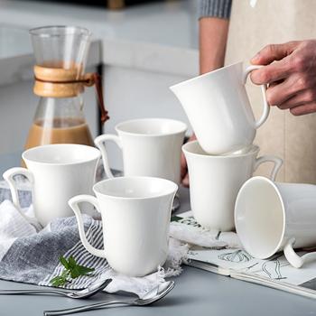 MALACASA Amparo 6-sztuka 340ML biały porcelany kawy kubki do herbaty ceramiczne Drinkware kubki do domu do biura do napojów unikalny prezent zestaw tanie i dobre opinie CN (pochodzenie) kubki do kawy Europejska Bez elementów Uchwyt 6-10 CE UE Lfgb Mugs AMPARO-6CP Ekologiczne