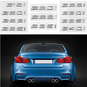 Car Tail Stickers Badge Decoration for BMW 220I 228I 235I 328I 330I 335I 340I M2 M3 E21 E28 E30 E32 E34 Emblem Auto Accessories image