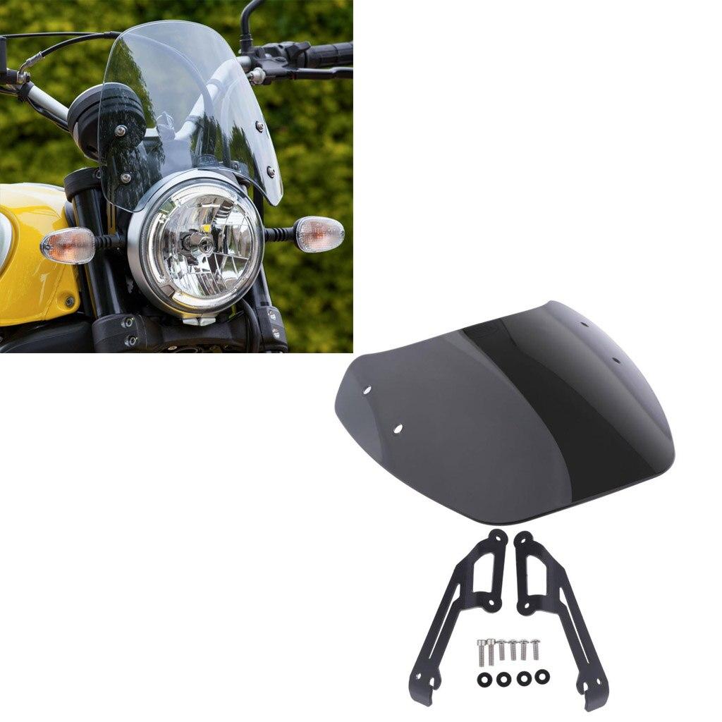 Motorcycle Windscreen For DUCATI SCRAMBLER 2016+, Windshield - Motorbike Wind Protection, Black