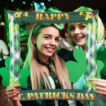 1pc St. Patricks Day Photo Booth Props Inflatable Balloons Picture Frame Shamrcok Irish Party Supplies