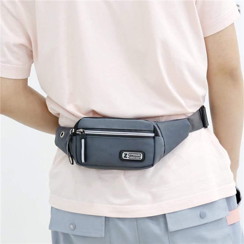 Women Nylon Waist Packs Fanny Pack Belt Sling Bags Laser Chest Phone Pouch Chest Bags