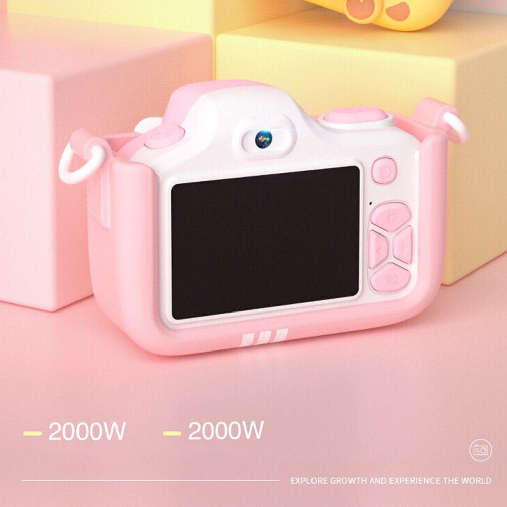 Caméra numérique enfants caméscope Mini vidéo avec coque en silicone cadeaux voyage Anti secousse haute définition jouets portables Selfie - 5